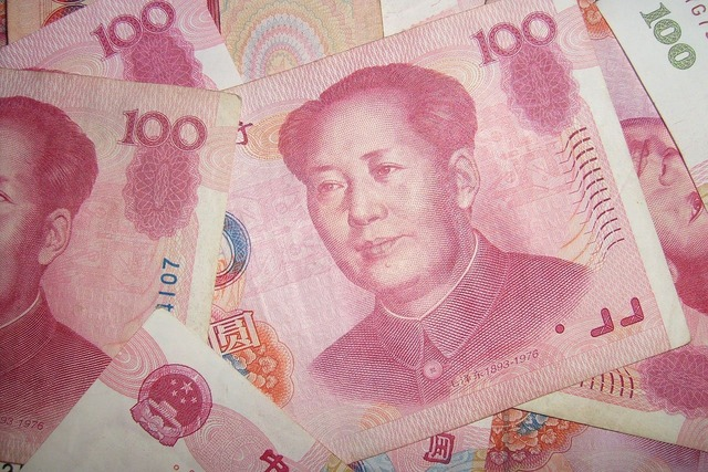 Currency notes yuan, business finance.