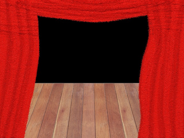 Curtain red theater.