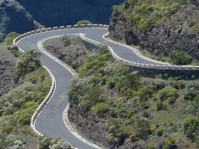 Curve return pass road, transportation traffic.