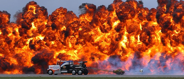 Custom jet propelled truck jet engines fastest truck, transportation traffic.