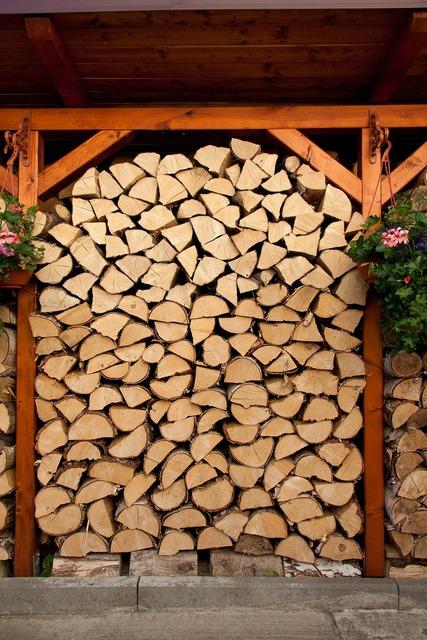 Cut energy firewood, backgrounds textures.