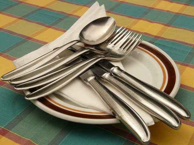 Cutlery knife fork.