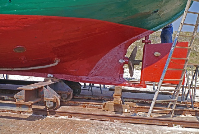 Cutter hull rear.