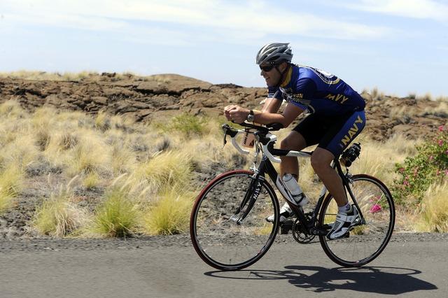 Cycling training triathlon, transportation traffic.