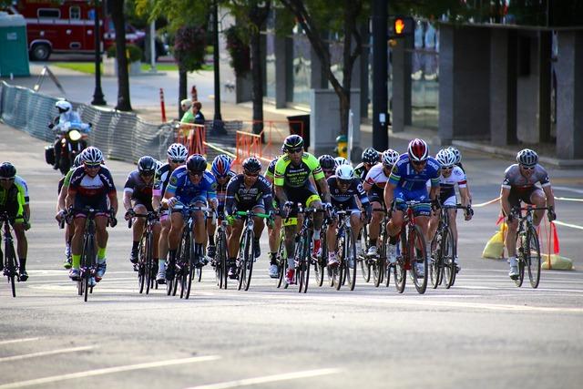 Cyclist race bike, transportation traffic.