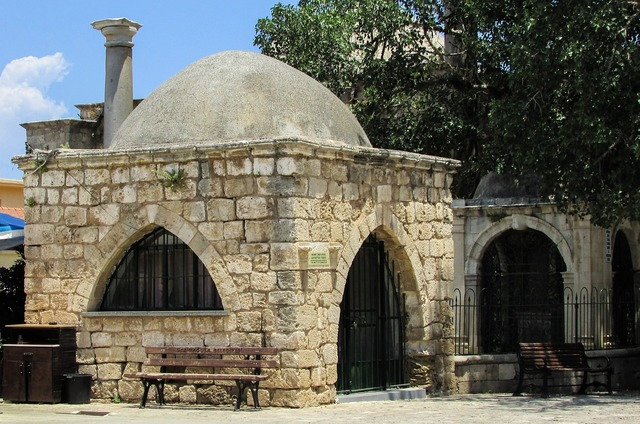 Cyprus famagusta square, architecture buildings.