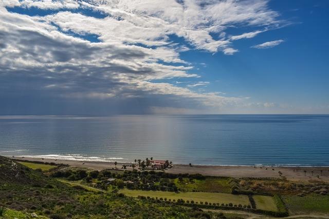 Cyprus kourion beach landscape, nature landscapes.