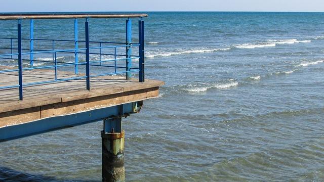 Cyprus larnaca jetty, travel vacation.