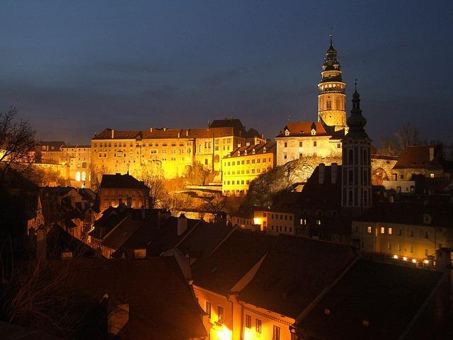Czech krumlov castle unesco.