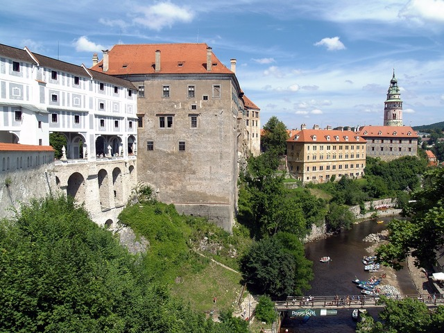 Czech krumlov castle unesco, architecture buildings.