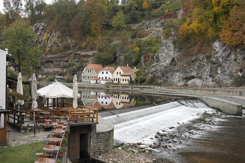 Czech republic cesky krumlov castle loop eastern europe.
