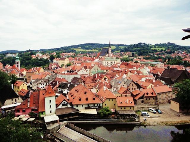 Czech republic cesky krumlov castle rope cesky krumlov castle loop.