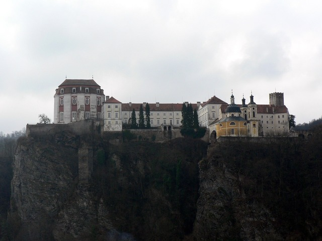 Czech vranov nad dyjí castle, nature landscapes.
