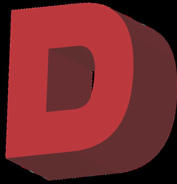 D alphabet letter, education.