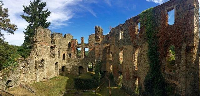Dalberg castle ruins.