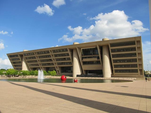 Dallas city hall building, architecture buildings.