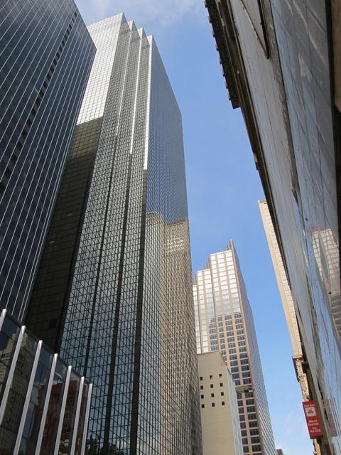 Dallas skyscraper office buildings, business finance.