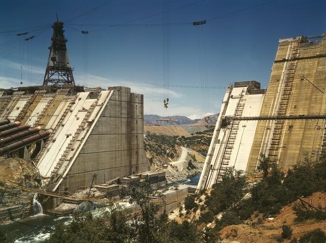Dam shasta dam construction.