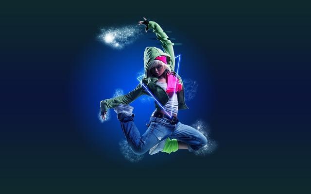 Dance girl electro, sports.