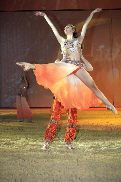 Dance woman show, sports.