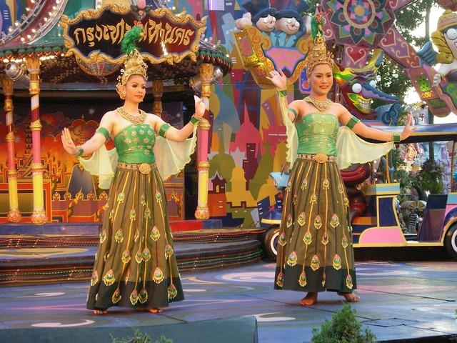 Dancers asian thai, backgrounds textures.