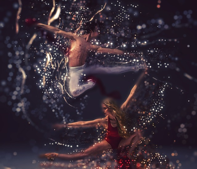 Dancers performance elegance, sports.