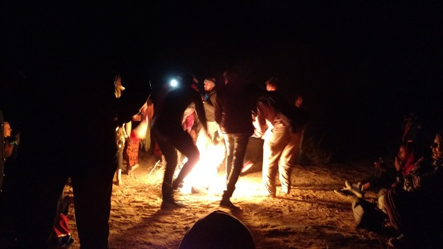 Dancing campfire fire.