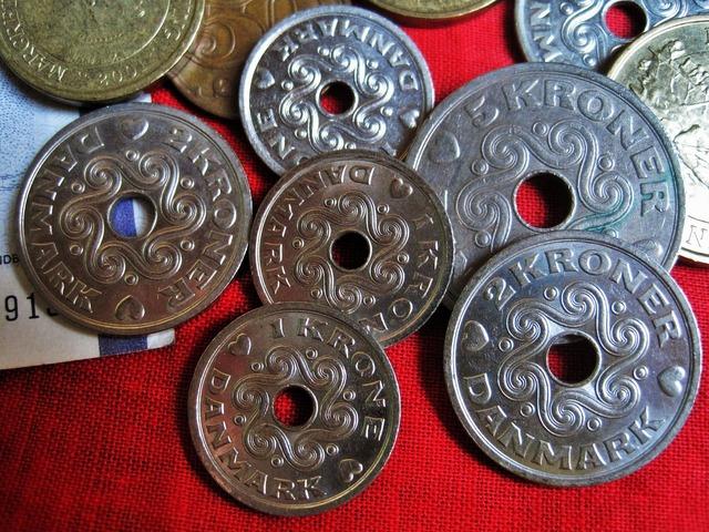 Danish kroner danish currency danish coins, business finance.