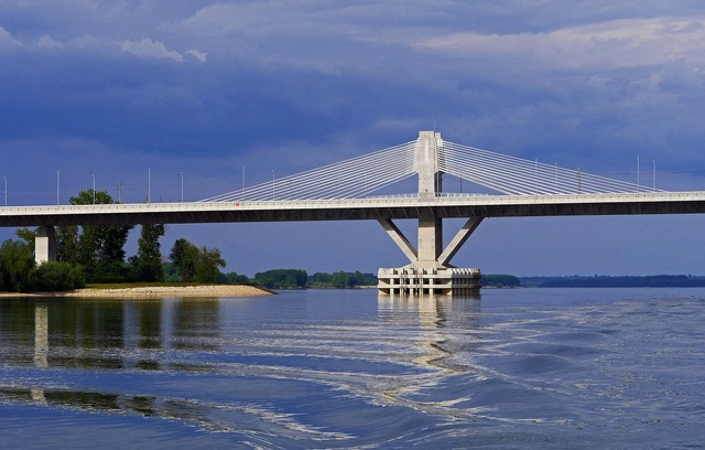 Danube bridge cable-stayed bridge structural, science technology.