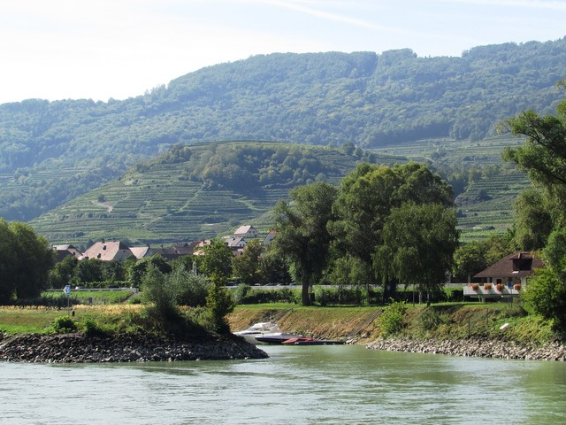 Danube valley shipping river.