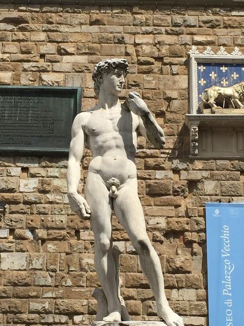 David florence michelangelo, places monuments.