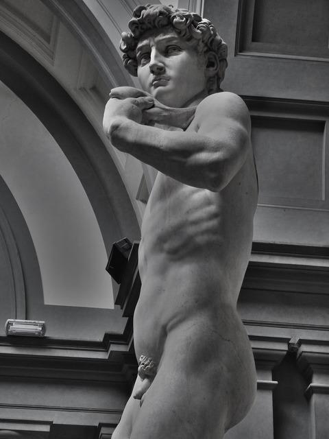 David michelangelo statue, architecture buildings.