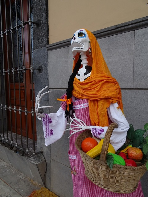 Day of the dead catrina mexico, food drink.