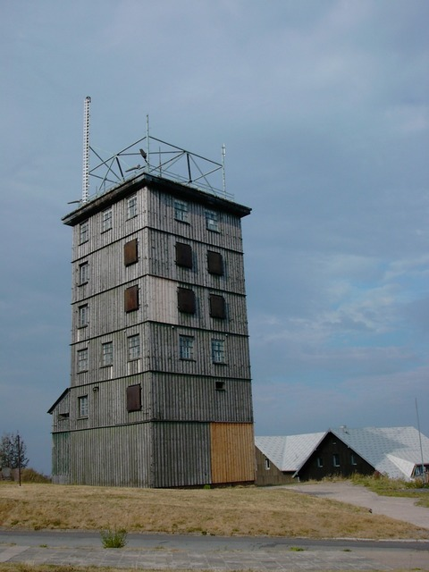 Ddr former border tower watchtower.