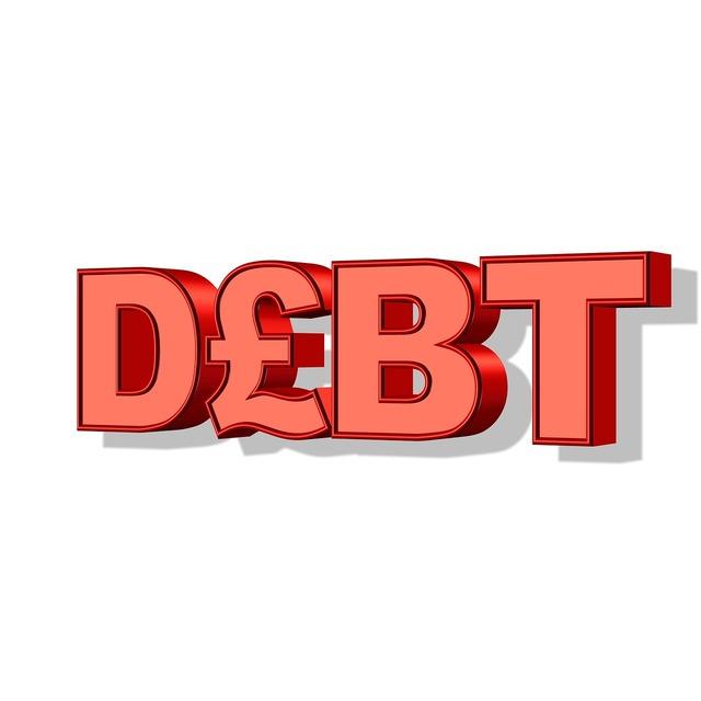Debt money pound, business finance.