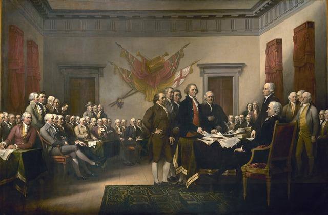 Declaration of independence united states usa.