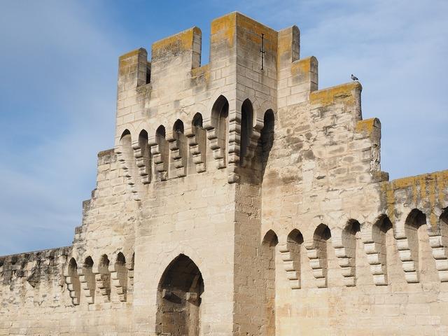 Defensive tower tower battlements, architecture buildings.