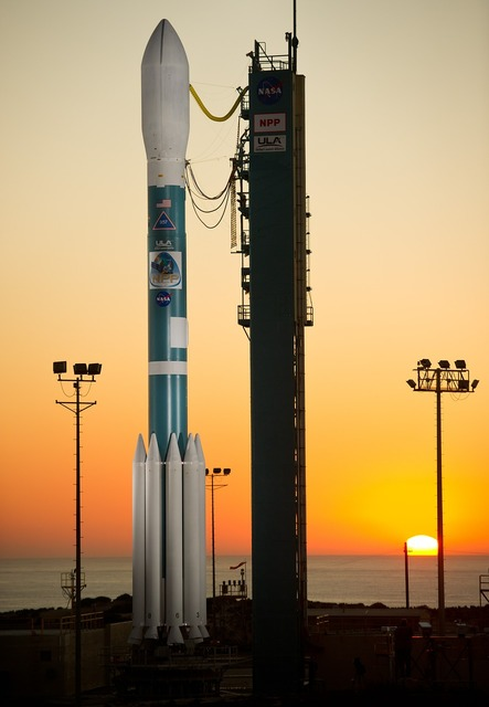 Delta two rocket weather satellite payload.