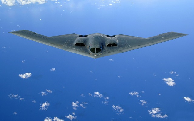 Delta wings aircraft stealth bomber.