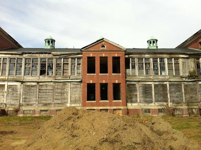 Demolition historic building, architecture buildings.