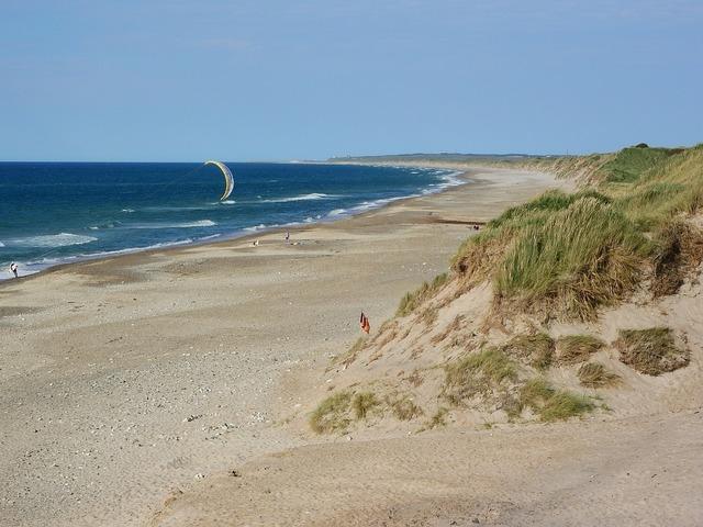 Denmark cold hawaii beach, travel vacation.
