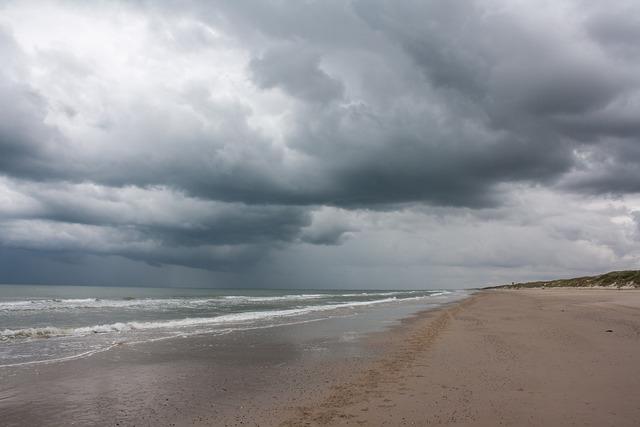 Denmark jutland beach, travel vacation.