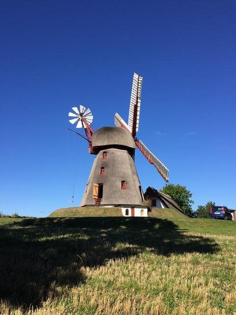 Denmark windmill traditionally, industry craft.