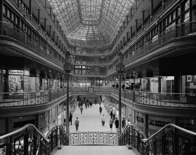 Department store shopping centre arcades.