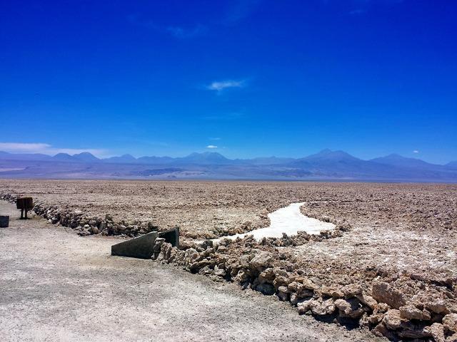 Desert salt mountains.