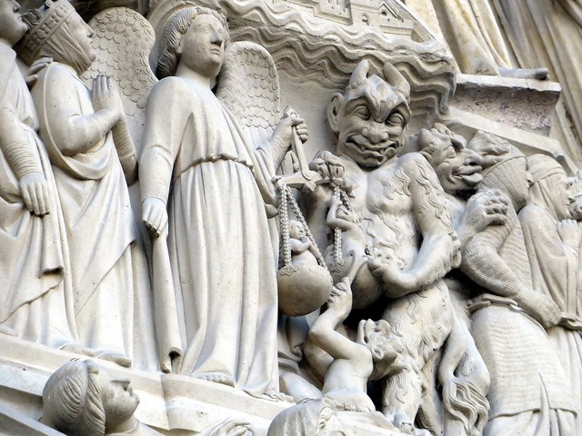 Devil archangel michael notre-dame, religion.