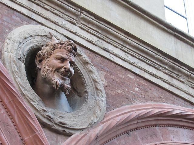Devil bologna italy, architecture buildings.