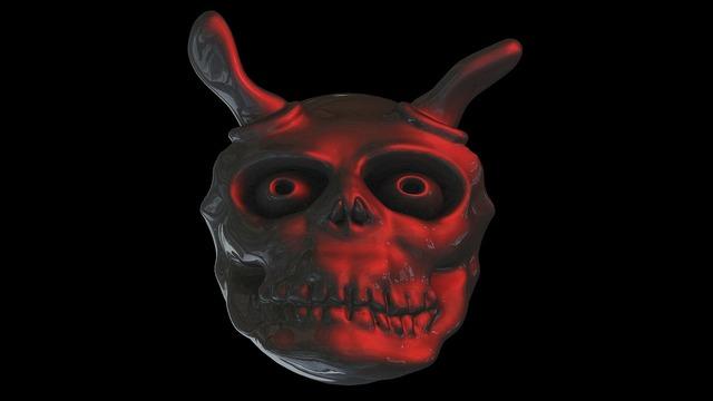 Devil ghost face, emotions.