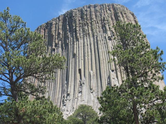 Devil's tower mountain utah, nature landscapes.