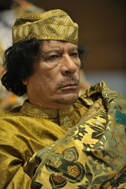 Dictator muammar al gaddafi head of state, people.